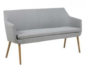 Trzyosobowa ławka tapicerowana w stylu skandynawskim Nora