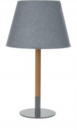 Klasyczna lampka stołowa na drewnianej nodze Zee