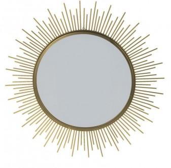 Okrągłe lustro dekoracyjne Shine