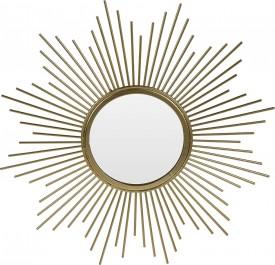 Dekoracyjne lustro ścienne Rise złote