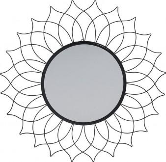Ozdobne lustro ścienne do salonu Mandala
