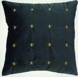 Poduszka dekoracyjna ze złotym haftem Buggy Bee 45x45 cm