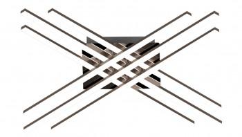Ledowy plafon sufitowy z metalu Cross