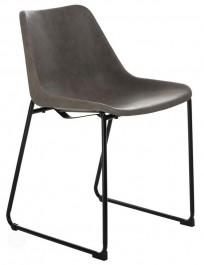 Krzesło na płozach w stylu industrialnym Brity Vintage