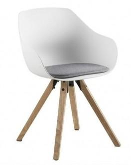 Krzesło z poduszką w stylu skandynawskim Tina Wood