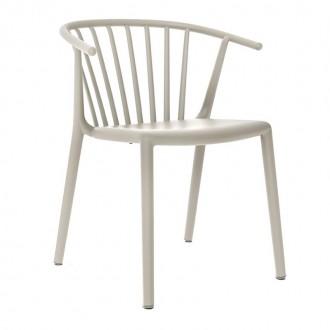 Krzesło kawiarniane z niskim oparciem Woody