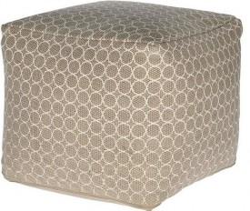 Wzorzysta pufa bawełniana Mone 40x40 cm