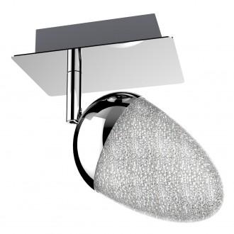 Chromowany reflektorek sufitowy ze szklanym kloszem Sparkles 1