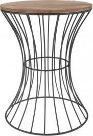 Nowoczesny stolik salonowy na drucianej podstawie Hone I