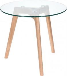 Skandynawski stolik pomocniczy ze szklanym blatem Sia M