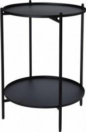 Metalowy stolik pomocniczy z półką Link