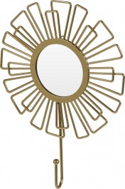 Wieszak z lusterkiem w kolorze złotym Suns