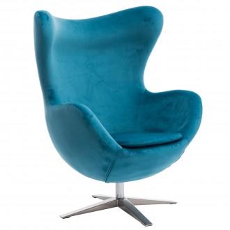 Obrotowy fotel wypoczynkowy Jajo velvet