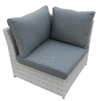 Fotel narożnikowy do ogrodu z poduszką Jack