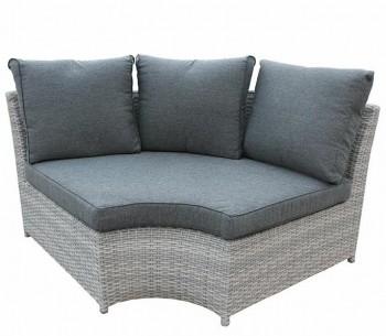 Półokrągły fotel narożny z poduszką do ogrodu Jack