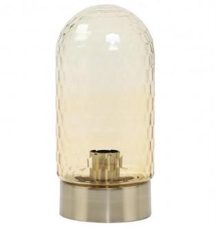 Designerska lampka stołowa ze szklanym kloszem Domani