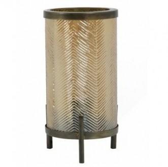 Złota lampa stołowa w stylu industrialnym Tjibe