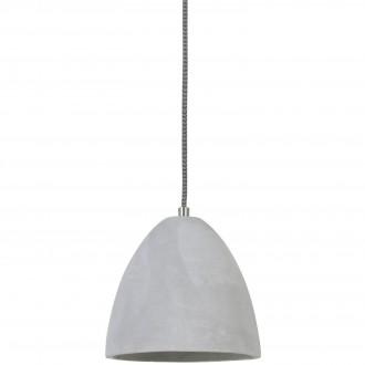 Lampa wisząca z szarym kloszem cementowym Devone