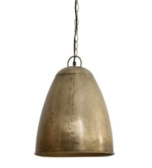 Stylowa lampa wisząca z metalu Eelkje antyczny brąz