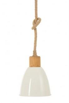Klasyczna lampa sufitowa ze sznurka jutowego Edna