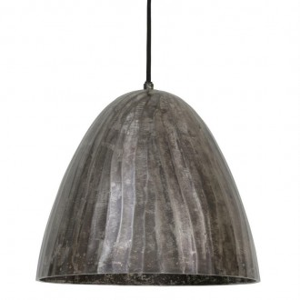 Loftowa lampa sufitowa z metalowym kloszem Enisa czarna perła