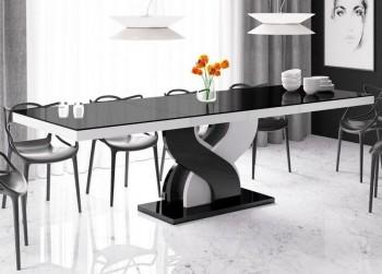 Stół rozkładany do jadalni w wysokim połysku Bella