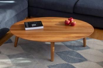 Skandynawski stolik kawowy w kształcie elipsy Contrast Ovo