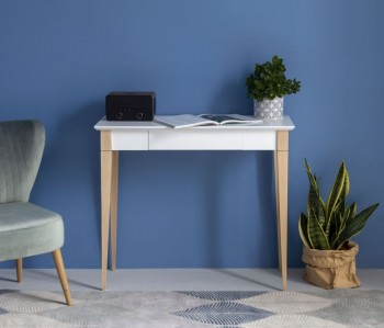 Skandynawskie biurko z szufladą na bukowych nogach Mimo