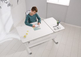 Regulowane biurko dziecięce z pochylanym blatem Diego GT