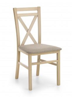 Drewniane krzesło z tapicerowanym siedziskiem Dariusz dąb sonoma