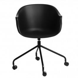 Obrotowe krzesło na kółkach do biura i gabinetu Roundy