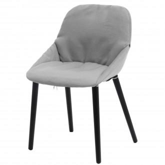 Tapicerowane krzesło na drewnianych nogach do jadalni Sofie