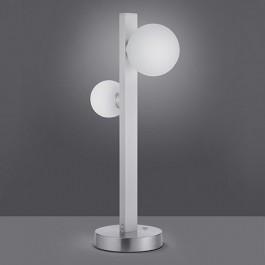 Lampa stołowa z dwoma szklanymi kloszami Dicapo