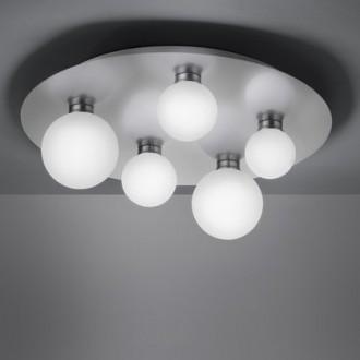 Lampa sufitowa z pięcioma kulistymi kloszami Dicapo