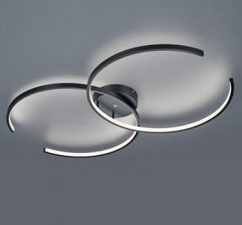 Lampa sufitowa w kształcie podwójnego okręgu Citizen czarny mat