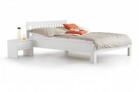 Łóżko drewniane z zagłówkiem Paul biały