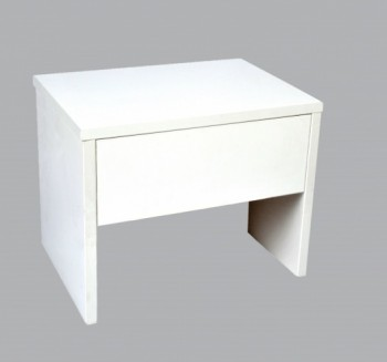 Drewniana szafka nocna z szufladą Paul biały