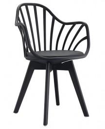 Krzesło Albert Arm na czarnych nogach