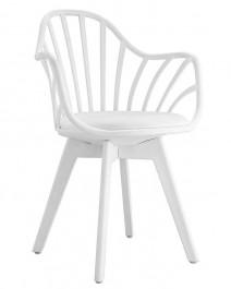 Krzesło Albert Arm na białych nogach
