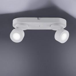 Nowoczesny plafon sufitowy z dwoma reflektorami Sancho