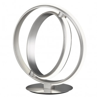 Designerska lampa stołowa ring Compton nikiel