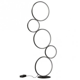 Designerska lampa stojąca ledowe ringi Rondo