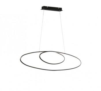 Szeroka lampa wisząca w stylu glamour Avus