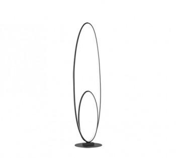 Designerska lampa stojąca w kształcie podwójnego okręgu Avus