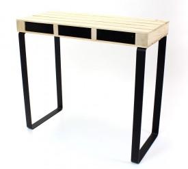 Industrialna konsola z drewnianym blatem Palette