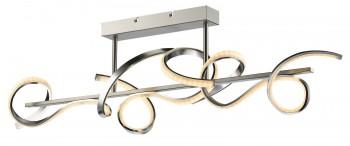 Designerski plafon sufitowy z metalu i akrylu Messina