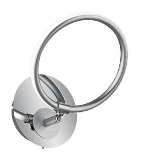 Dekoracyjny kinkiet chromowany ring Olympus