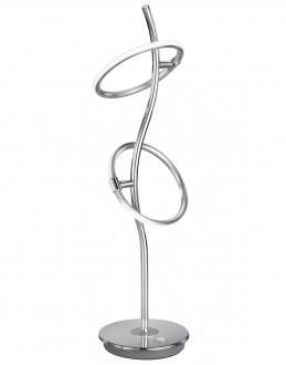 Chromowana lampa stołowa na jednej nodze Olympus