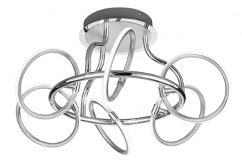 Designerski plafon chromowany ringi Olympus