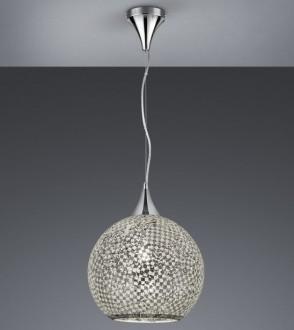 Wisząca lampa szklana w kształcie kuli Mosaique